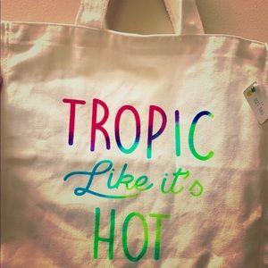 Handbags - Tropic Like It's Hot Canvas Tote